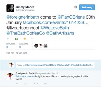 Jimmy first tweet